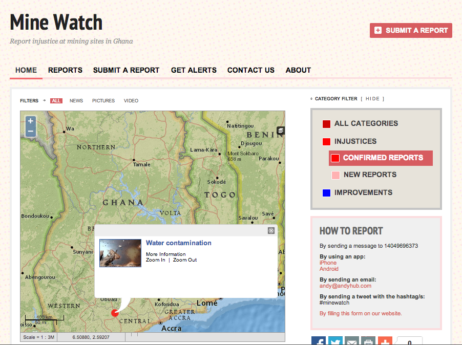 Mine Watch via Crowdmap