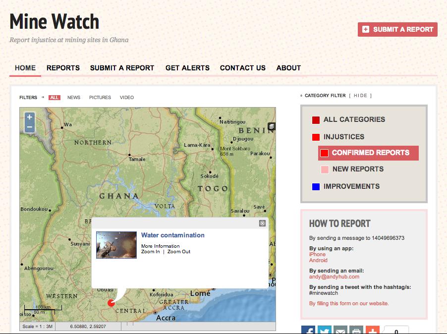 Mine Watch via Crowdmap